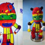 """Oso colorido - Dibujos de Niños convertidos en """"Juguetes de Peluches"""""""