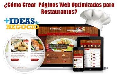 paginas web optimizadas para restaurantes