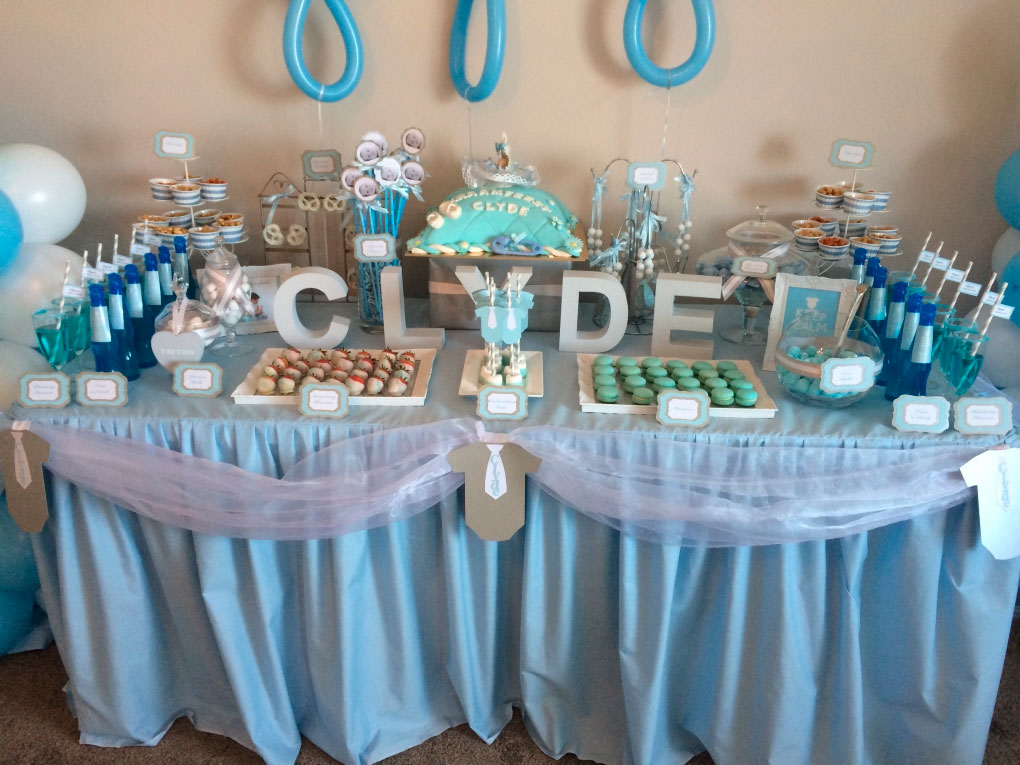 Ideas para candy bar baby shower - Mesa de baby shower nino ...